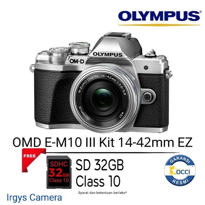 harga Olympus omd-em 10 mark iii silver kit lens 14-42 mm ez(free sdhc 32gb) Tokopedia.com