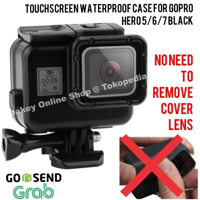 Foto Produk Touchscreen Waterproof Case GoPro Hero 5/6/7 Black casing anti air dari Jakey Online Shop