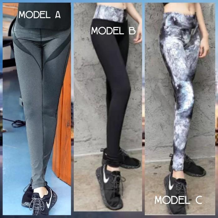 Jual Celana Legging Olahraga Wanita Yoga Fitness Model C L Kota Batam Jann S Corner Tokopedia