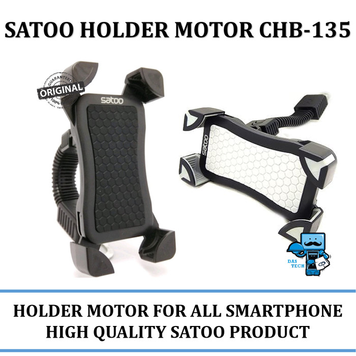 harga Satoo holder motor chb-135 for all smartphone - universal bike holder - hitam Tokopedia.com