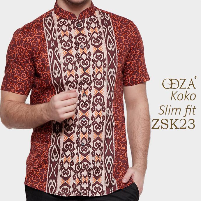 Kemeja pria muslim / baju koko murah slim fit minimalis om38