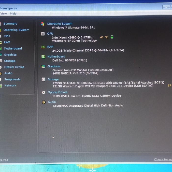 Jual Dell Precision T7500 Xeon X5690-Ddr3 24Gb-SSD 240Gb-Vga NVS 315 1GB -  DKI Jakarta - MSCOMPUTER | Tokopedia