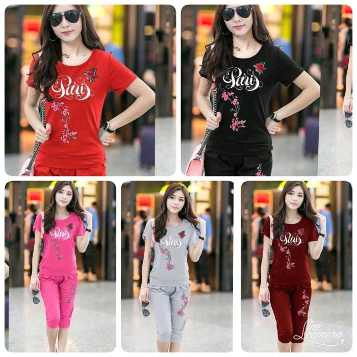 Foto Produk STELAN WANITA PARIS MERAH ABU HITAM MERAH MURAH blouse dan celana dari KPStore Fashion Online