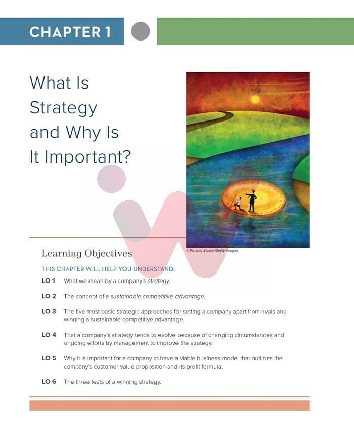 crafting and executing strategy 21st edition chapter 1