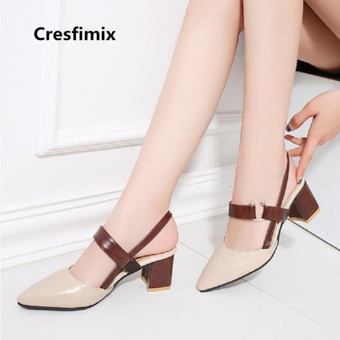 zapatos de temperamento muchos estilos muy agradable Jual Cresfimix mujer tacones altos women cute high quality pu leather -  Kota Surabaya - Mage_Store | Tokopedia
