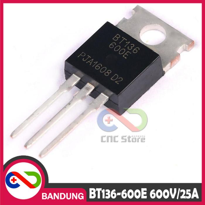 Jual [CNC] BT136-600E BT136 TO-220 600V/25A 4Q TRIAC - Kota Bandung - CNC  STORE BANDUNG | Tokopedia