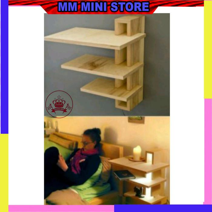 Jual Rak Hiasan Dinding Kayu Lampu Kamar Tidur Kab Kediri Mm Mini Store Blitar Tokopedia