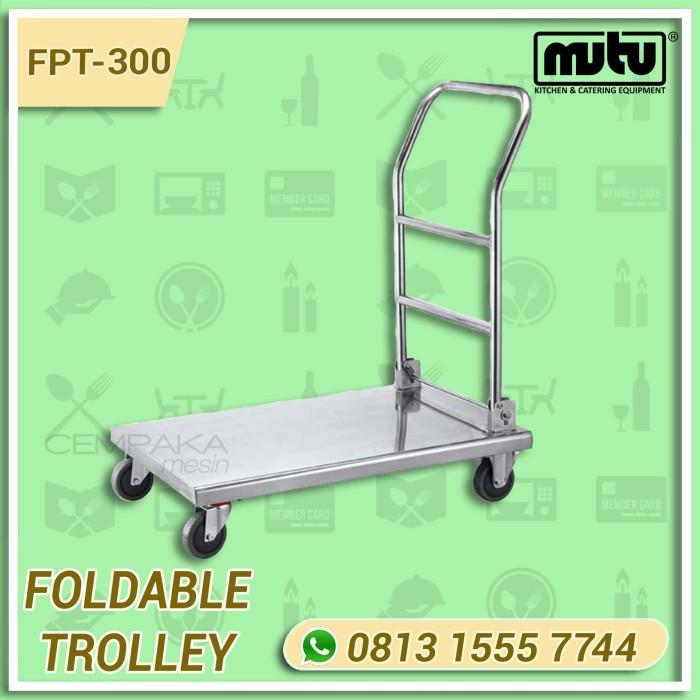 harga Troli stainless steel | trolley dorong pengangkut barang mutu fpt-300 Tokopedia.com