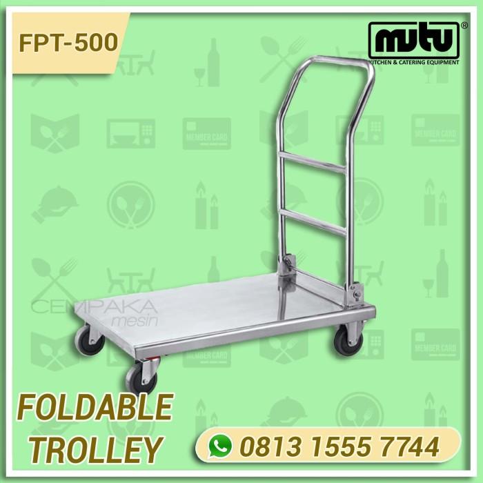 harga Foldable trolley | trolley barang stainless steel 500 kg mutu fpt-500 Tokopedia.com