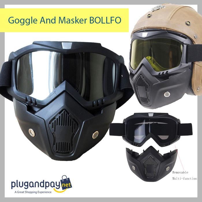 Foto Produk Goggle KACAMATA And Masker BOLLFO TERMURAH PLUGANDPAY dari plugandpay