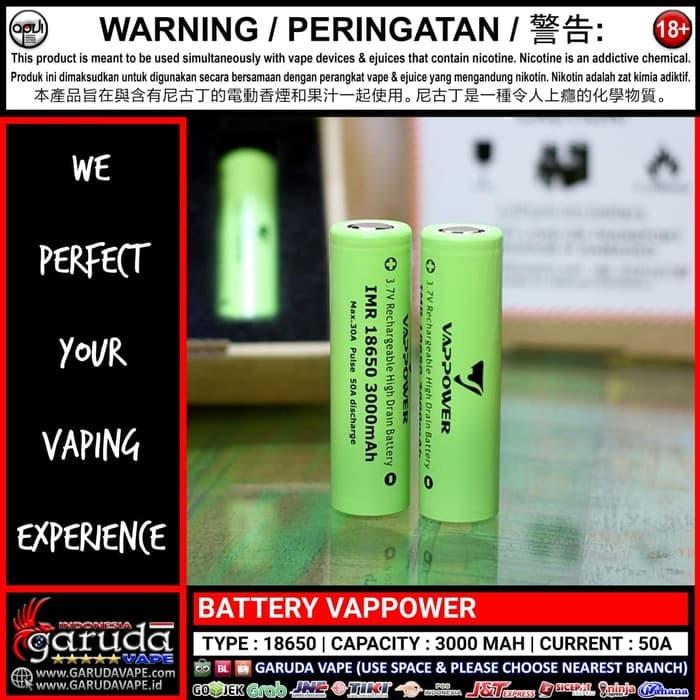 Nearest Battery Store >> Jual Battery Vappower 18650 Kota Surabaya Panji Vaping Store Tokopedia