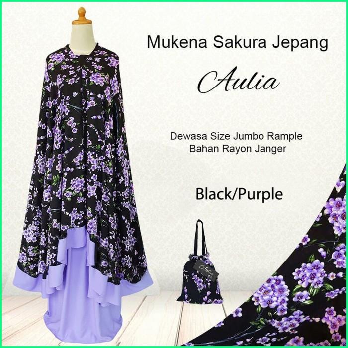 Foto Produk MUKENA BALI RECOMMENDED! SAKURA Black/Purple / EKSKLUSIF MODEL TERBARU dari MUKENA BALI LUCU