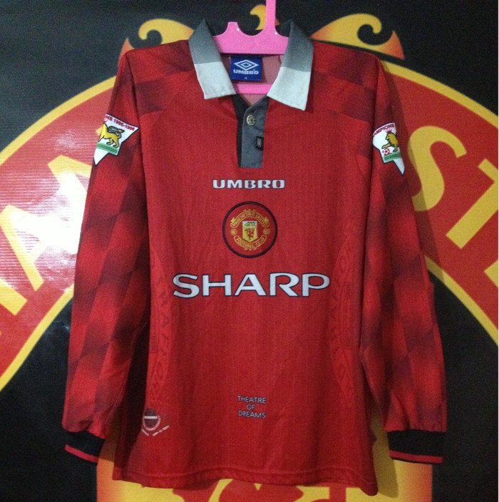 huge selection of 25292 5079e Jual Jersey Manchester United Original Home 1996-1998