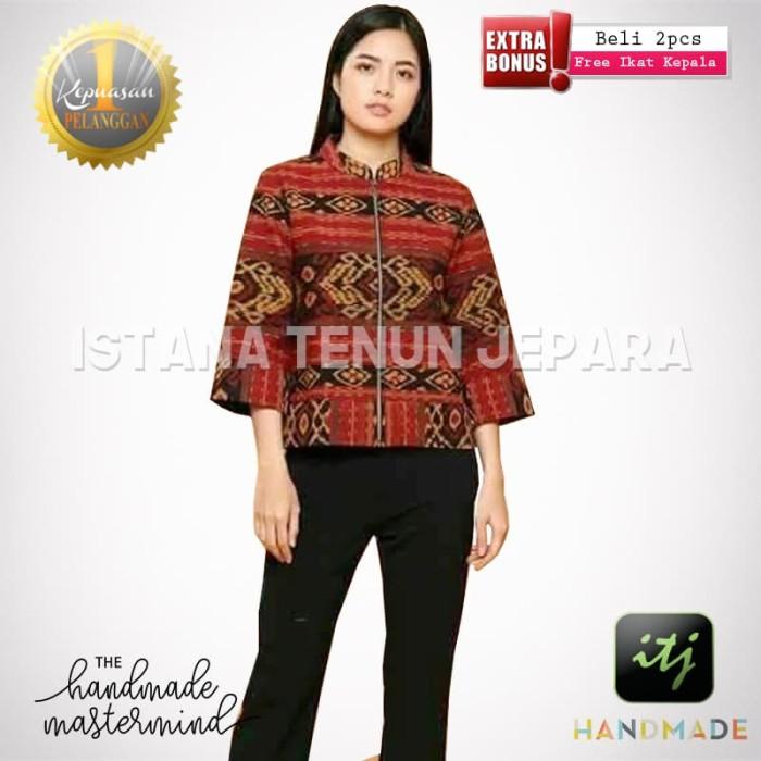 harga Jaket cantik etnik batik wanita tenun blanket troso Tokopedia.com