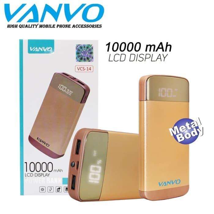 harga Powerbank original vanvo 10000mah vcs-14 slim metal pb lcd 2 usb Tokopedia.com