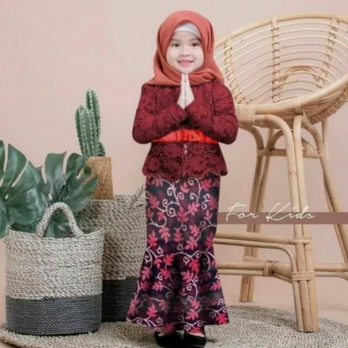 Jual Baju Gamis Anak Kebaya Kombinasi Batik Balotely Hijab Anak Perempuan Jakarta Pusat Yogieyo Tokopedia