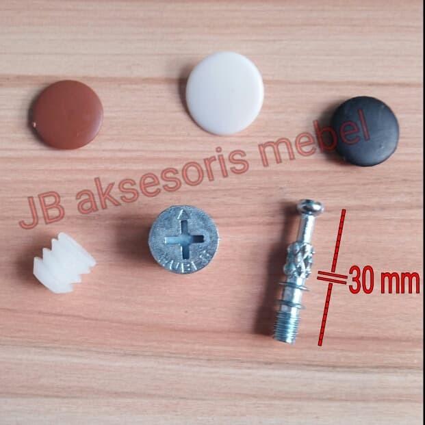 Jual Skrup Baut Minifix 3 Cm 30mm Socket Casing Tutup Minifix Kota Surabaya Jb Aksesoris Mebel Tokopedia