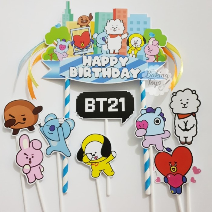 Gambar Kereta Versi Kartun Jual Topper Cake Bt21 Versi Kartun Bts Kpop Group Jakarta Barat Topper Baking Tokopedia
