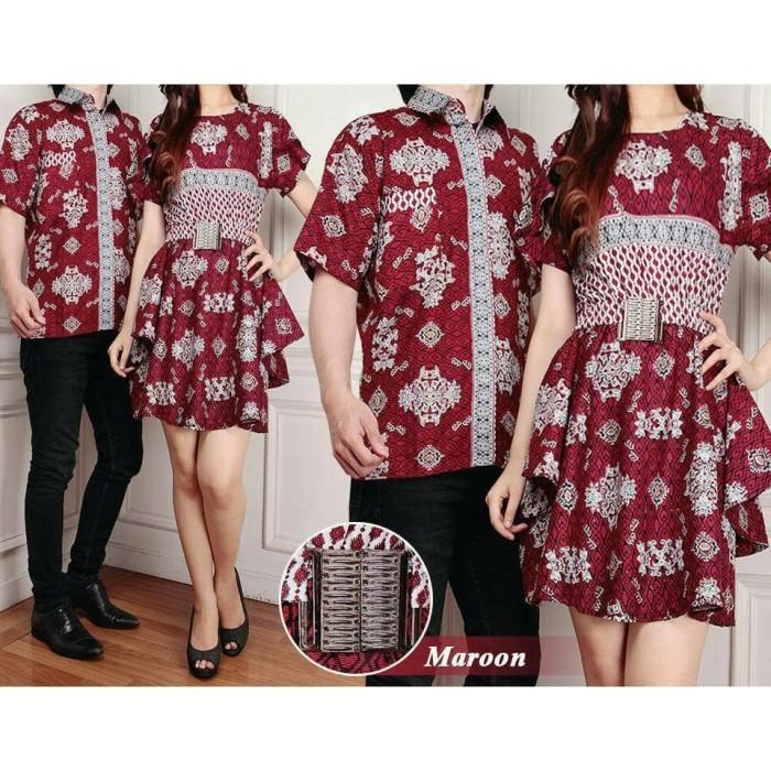 a22cc2981f Jual Couple Batik Raisa Dress Jumbo dan Kemeja Batik Pria - Jakarta ...