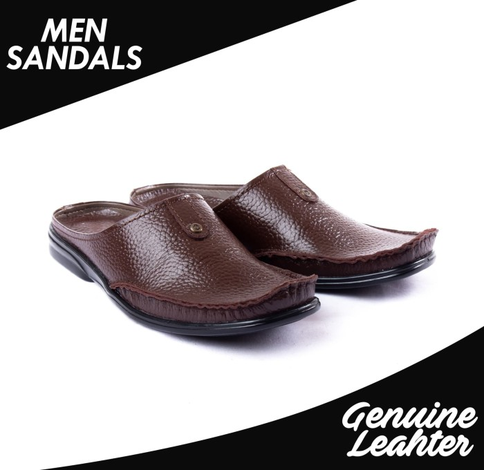 harga Sandal slop casual pria kulit asli ftp s-19 harley davidson Tokopedia.com