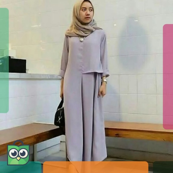 Jual Model Baju Muslim Gamis Terbaru Dan Modern Long Tunik Valentin Dki Jakarta Malaku Store Tokopedia