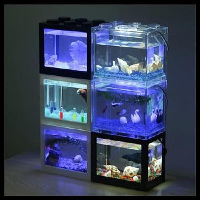 Jual Stok Ready Aquarium Mini Kecil Susun Lampu Led Ikan Hias Cupang Colo Dki Jakarta Kournikovastores Tokopedia