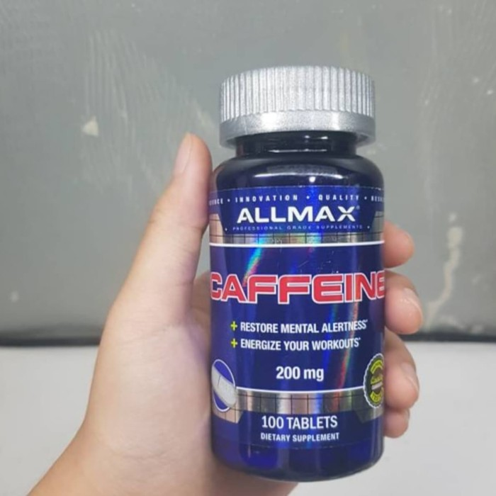 Foto Produk allmax caffeine kafein caffein 200mg 100caps all max nutrition dari Hulk Supplement