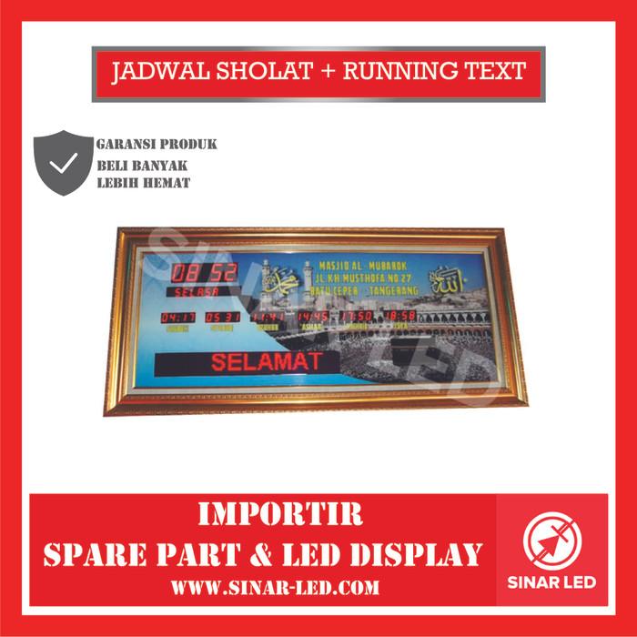 Foto Produk JADWAL SHOLAT + RUNNING TEXT dari sinar led