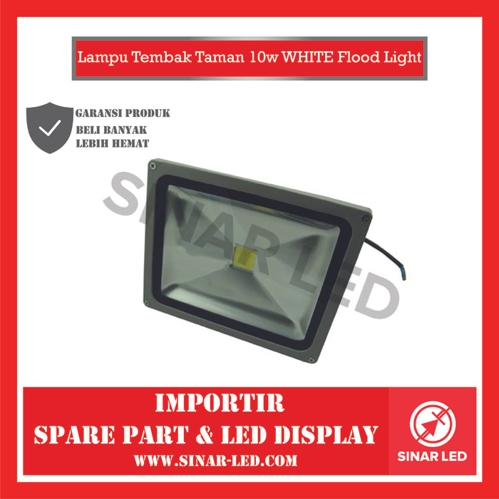Foto Produk Lampu Tembak Taman 10w WHITE Flood Light dari sinar led