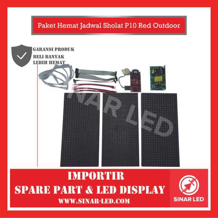 Foto Produk Paket Hemat Jadwal Sholat P10 Red Outdoor dari sinar led