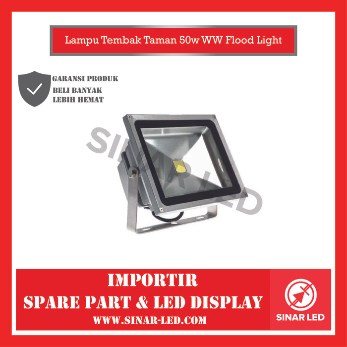 Foto Produk Lampu Tembak Taman 50w WW Flood Light dari sinar led