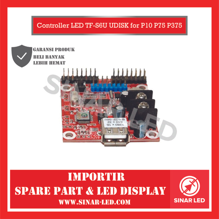 Foto Produk Controller LED TF-S6U UDISK for P10 P75 P375 dari sinar led