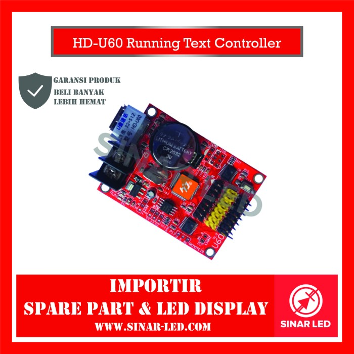 Foto Produk HD-U60 Running Text Controller dari sinar led