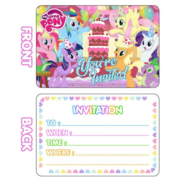 Jual Kartu Undangan Ulang Tahun Karakter My Little Pony Isi 10 Jakarta Barat Toko 888 Jakarta Tokopedia