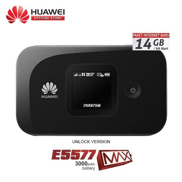 harga Mifi modem 4g lte huawei e5577 max 3000mah unlock all opr free 14gb Tokopedia.com