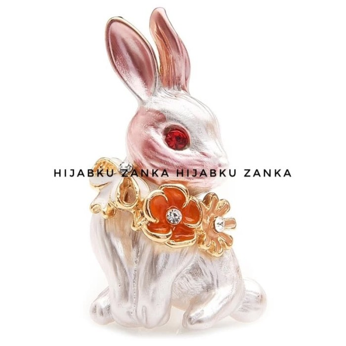 Foto Produk bros brooch kelinci rabbit dari Hijabku Zanka