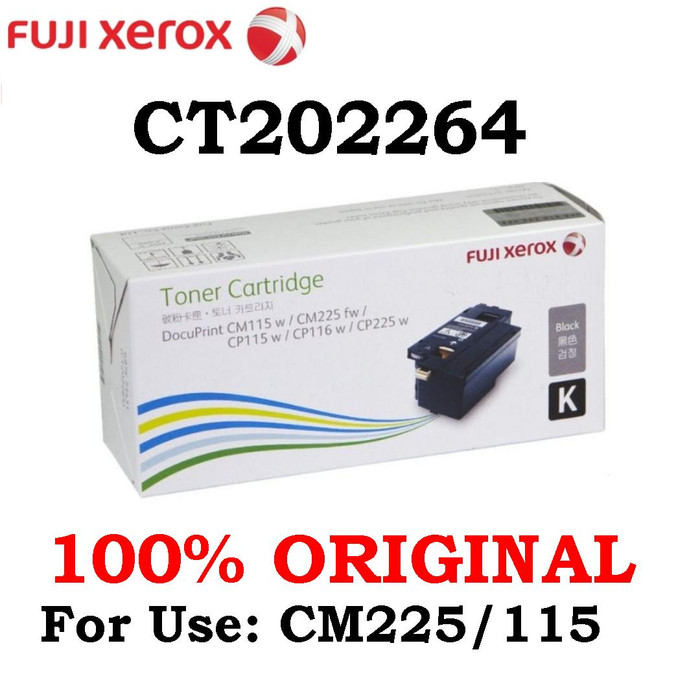Jual Toner Black FujiXerox CM225/115 CT202264 / CM225FW / CM 225FW / 225 -  DKI Jakarta - Taiyo Indonesia | Tokopedia