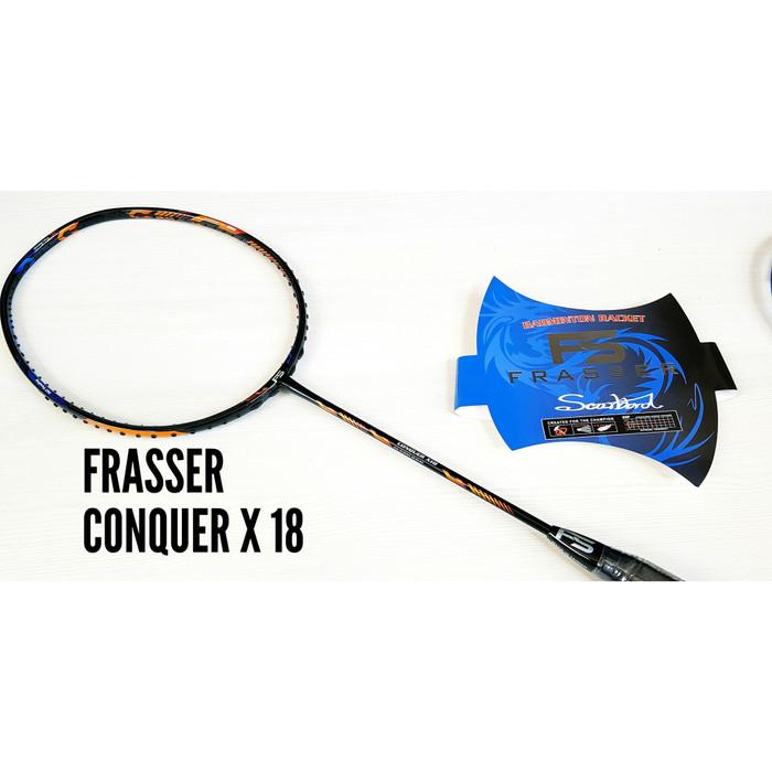 harga Raket badminton frasser conquer x 18 original Tokopedia.com
