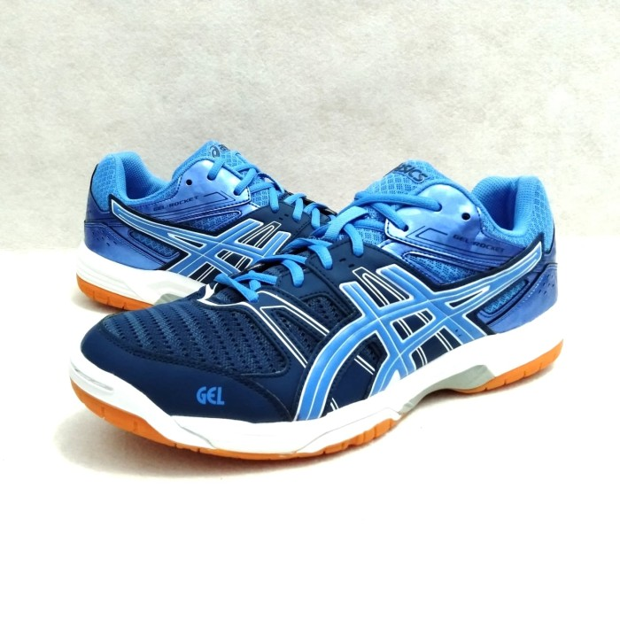 Original Sepatu ASICS GEL ROCKET 8 BLUE GREEN