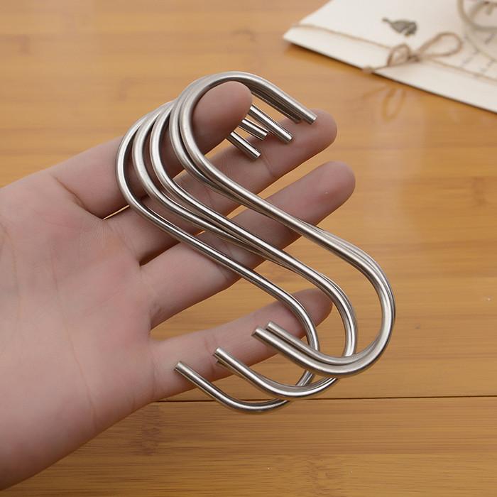 Foto Produk gantungan kait stainless steel S dapur/ hanger stainlesssteel baju tas dari tokoju