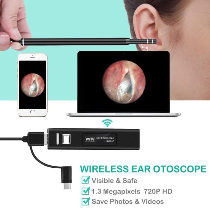 Jual SPIED CAT WIFI Endoscope Camera Wireless Ear Camera 1 3MP USB Ear -  Kota Surabaya - Blink_Store | Tokopedia
