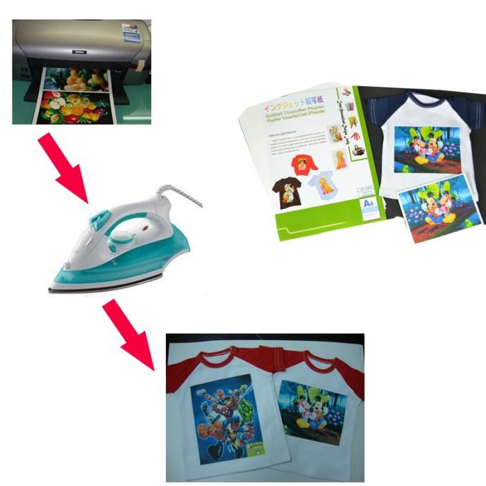 photo about Iron on Printable Paper named Jual (50desktops/ton) Iron upon Inkjet Warmth Shift Printing Paper For t blouse - Kota Surabaya - Blink_Keep Tokopedia