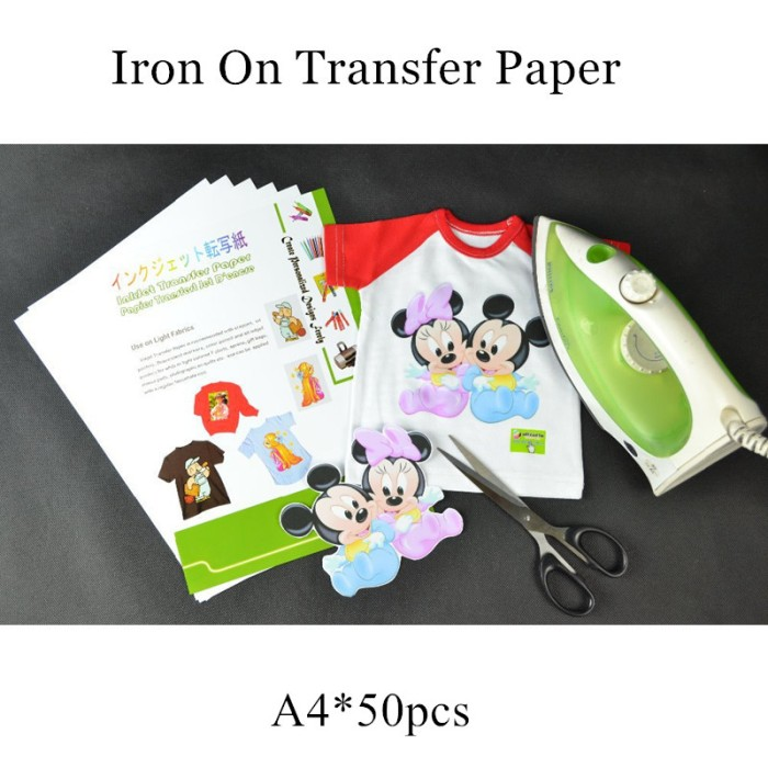 photograph about Iron on Printable Paper titled Jual (50computers/ton) Iron upon Inkjet Warm Go Printing Paper For t blouse - Kota Surabaya - Blink_Keep Tokopedia