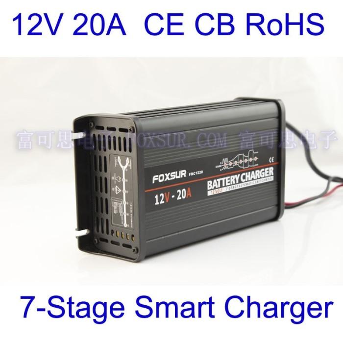 Lead Acid Battery >> Jual Foxsur Original 12v 20a 7 Stage Smart Lead Acid Battery Charger 12v Kota Surabaya Minion Store Tokopedia