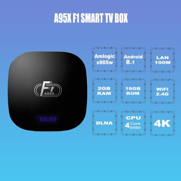 Jual A95X F1 Smart TV Box Android 8 1 Amlogic S905W Quad Core Set Top Box -  Kota Surabaya - Yusin Store | Tokopedia