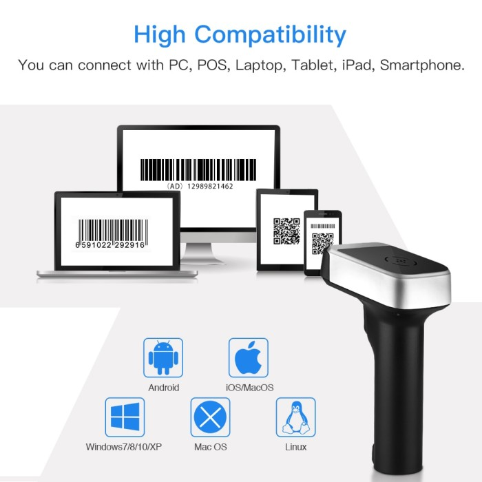 Jual Eyoyo 2 4G qr code scanner BT4 1 USB for PDF417 Data Matrix Code 2d -  Kota Surabaya - Linear_Store | Tokopedia