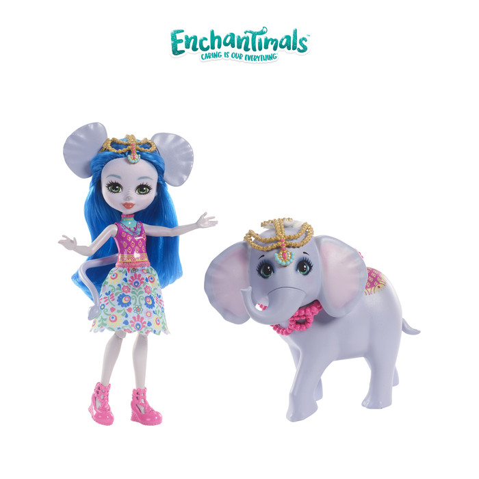 harga Enchantimals ekaterina elephant doll and antic figure - mainan boneka Tokopedia.com