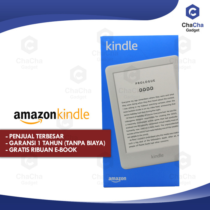 harga Amazon kindle 9 front light ebook reader bluetooth 4gb ads white Tokopedia.com