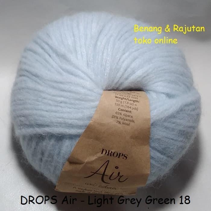 harga Drops air abu muda - benang rajut import impor wol alpaka lembut empuk Tokopedia.com