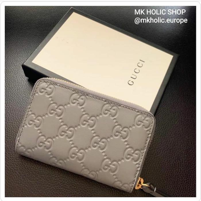 14fab2d1928ed Jual Gucci Small Wallet GG Signature Grey ( Leather ) - DKI Jakarta - MK  Holic Shop | Tokopedia